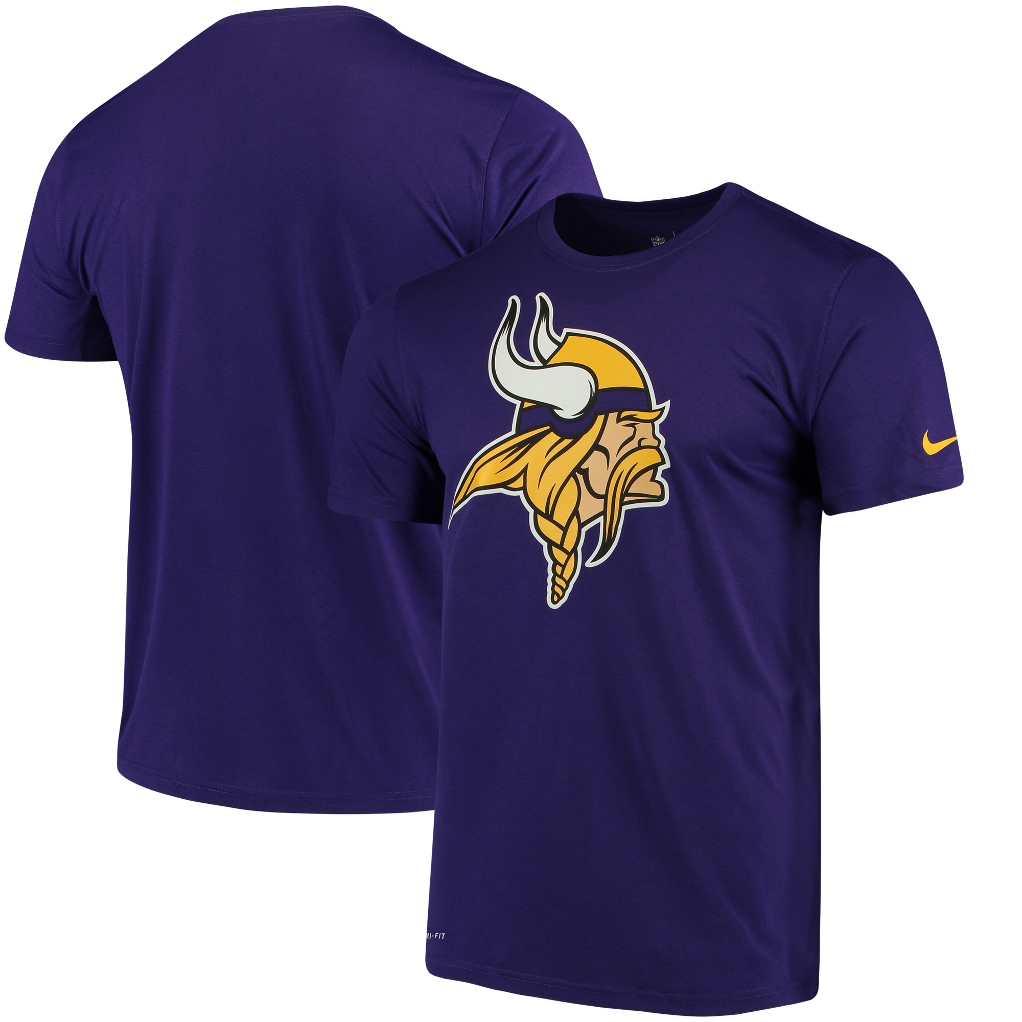 Men's Nike Purple Minnesota Vikings Legend Logo Essential 3 Performance T-Shirt