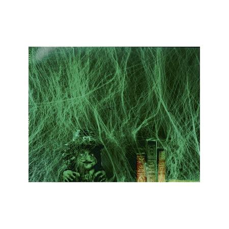 Large 60 Grams Green Glow Spider Webbing Halloween - Halloween Spider Webbing