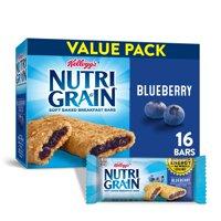 Kellogg's Nutri-Grain, Soft Baked Breakfast Bars, Blueberry, 20.8 Oz, 16 Ct