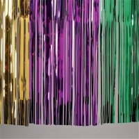 US Toy Company OD358 Metallic Table Skirt-Mardi Gras