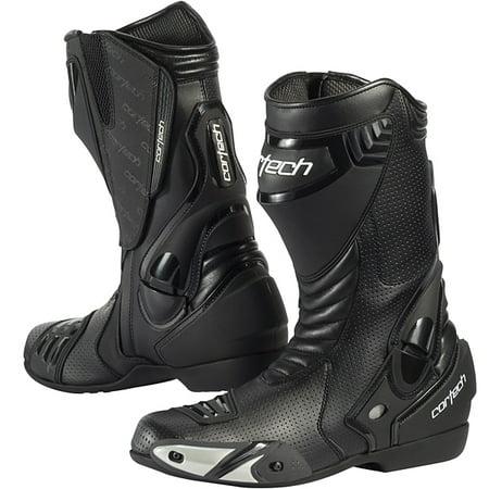 Cortech Latigo Air Road Race Boots Black Air Motorcycle Boots