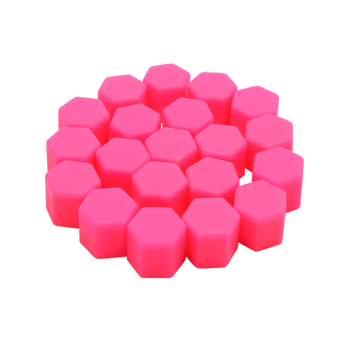 20pcs Pink Silicone 17mm Car Wheel Lug Nut Cap Tyre Hub Screw Dust Cover