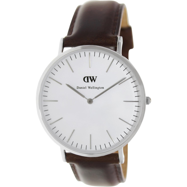 Daniel Wellington Men's Bristol 0209DW Brown Leather Quartz Watch