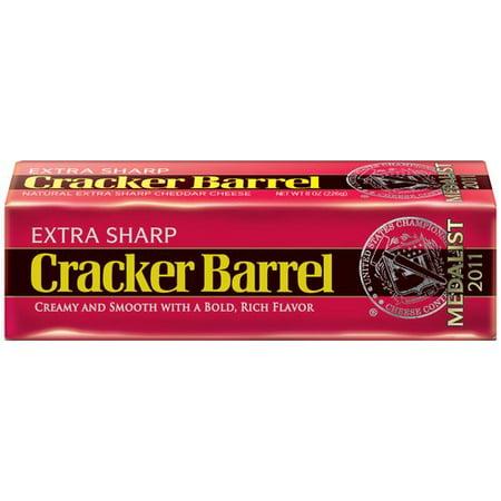 Cracker Barrel Extra Sharp Cheddar Cheese 8 Oz Walmart Com