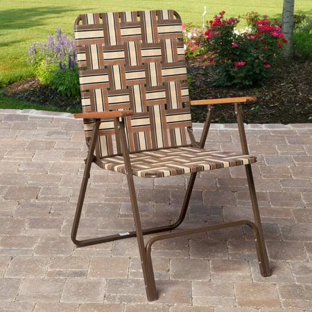 Rio Deluxe Folding Web Lawn Chair Walmart Com