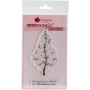 """Woodware Clear Stamps 3.5""""X5.5""""-Bubble Bloom Festive Tree"""