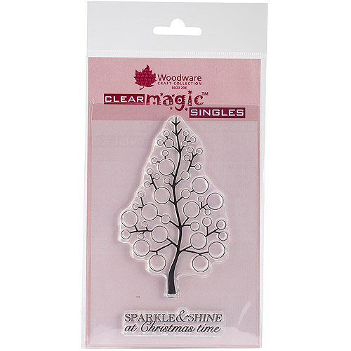"Woodware Clear Stamps 3.5""X5.5""-Bubble Bloom Festive Tree"