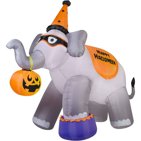 gemmy airblown inflatable 9 x 11 giant elephant halloween decoration