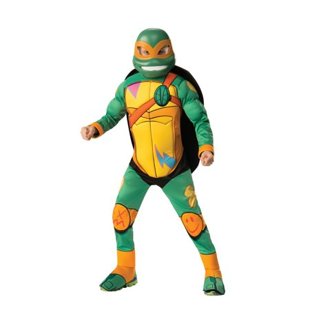 Woman Ninja Turtle Costume Ideas (Halloween Rise of Teenage Mutant Ninja Turtles Deluxe Michelangelo Child)