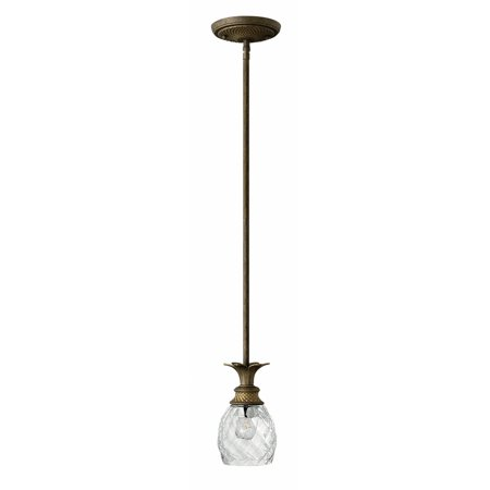 Plantation 1-Light Mini Pendant in Pearl Bronze
