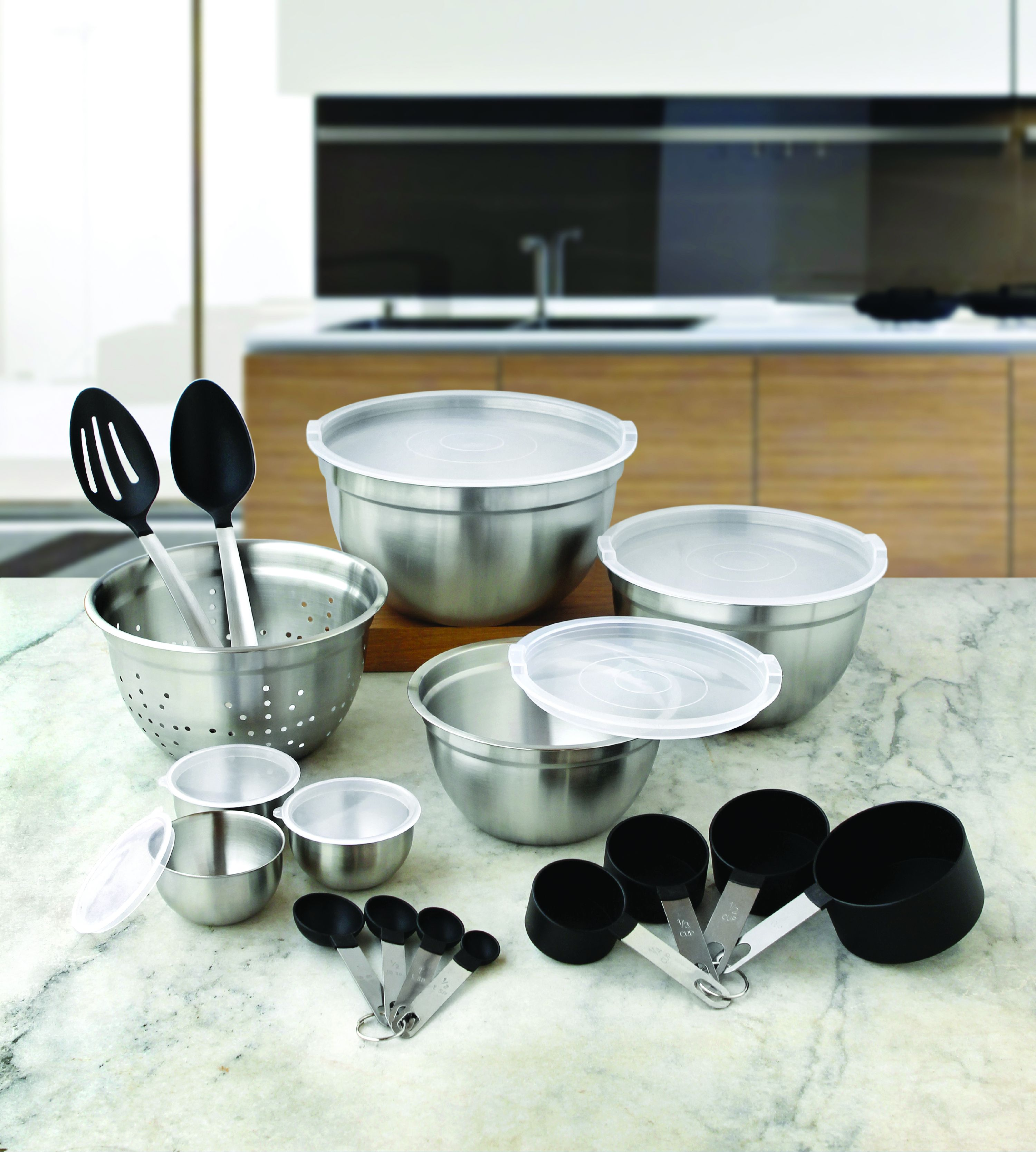 Better Homes and Gardens 23-Piece Gadget and Utensil Set, Clear