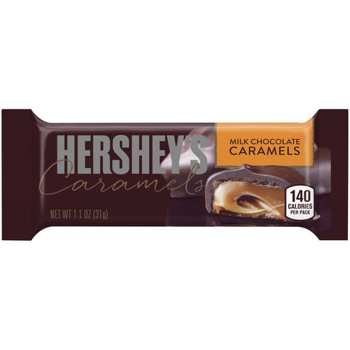 Hershey's Milk Chocolate Caramels Candy Bar, 1.1 oz