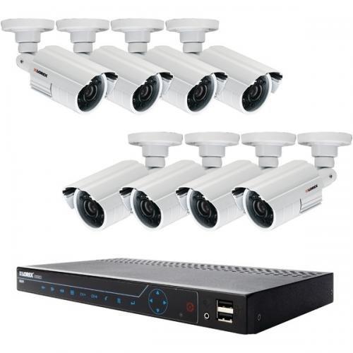 Lorex Lh3481001c8b Edge3 8-Channel DVR with 8 Cameras