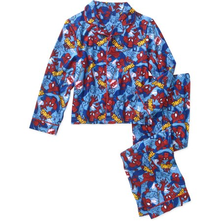 Boys' 2 Piece Poly Button Front Pajama Sleepwear Set, Available in 24 Characters - Banana In Pajamas Halloween