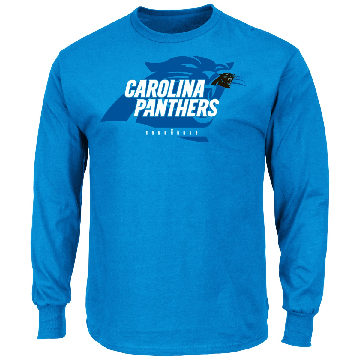 """Carolina Panthers Majestic NFL """"Of Great Value"""" Men's Long Sleeve T-Shirt by Majestic"""