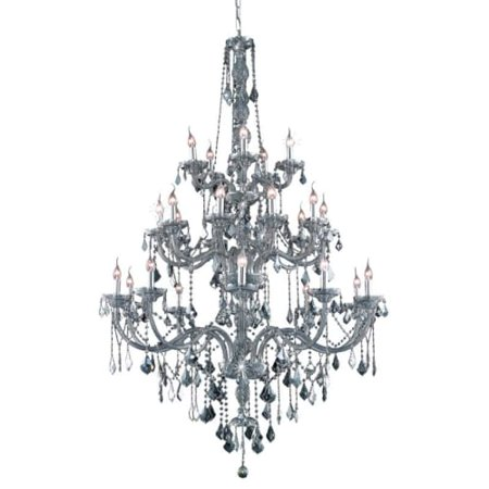 UPC 842814130432 product image for Elegant Lighting Value Verona 25LT Silver Shade Chandelier - V7825G43SS-SS/SS | upcitemdb.com