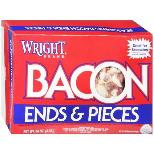 Wright Brand: Seasoning Ends & Pieces Bacon, 48 Oz