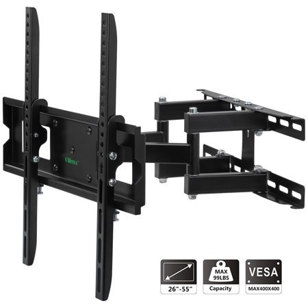 a8ae84e9f8c17 Ollieroo TV Wall Mount Bracket for most 26-55 Inch TV Full Motion Swivel  Articulating Dual Arms up to VESA 400x400mm and 99 LBS with Tilting -  Walmart.com