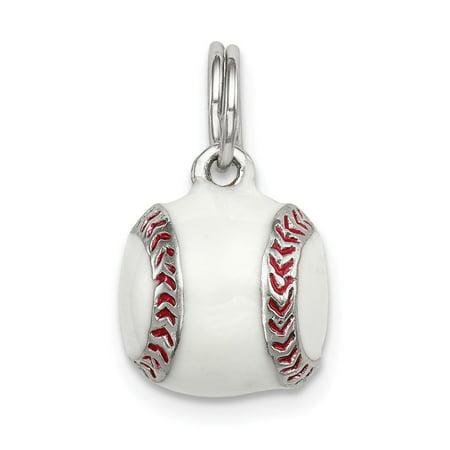 Sterling Womens Baseball (925 Sterling Silver 3D Enamel Baseball Pendant Fine Jewelry Ideal Gifts For Women Gift Set From)