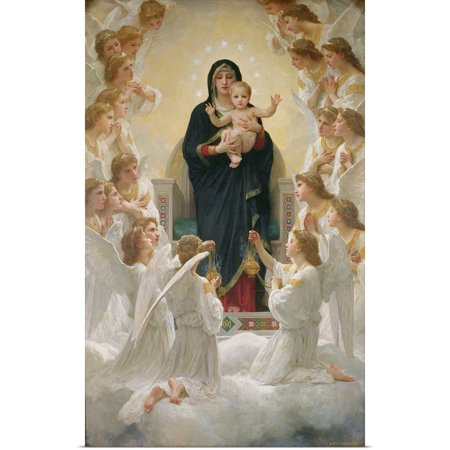 Great BIG Canvas | Rolled William Adolphe Bouguereau Poster Print entitled The Virgin with Angels, 1900
