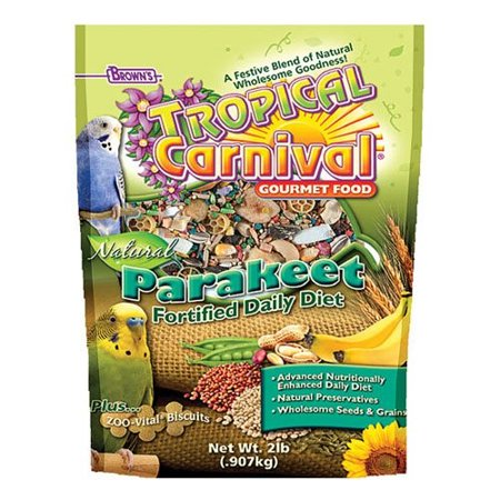 FM Brown's Tropical Carnival Parakeet Bird Food, 2 Lb