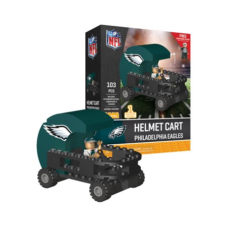 Philadelphia Eagles Helmet Cart Set with Minifigure OYO Sports Toys 103PCS