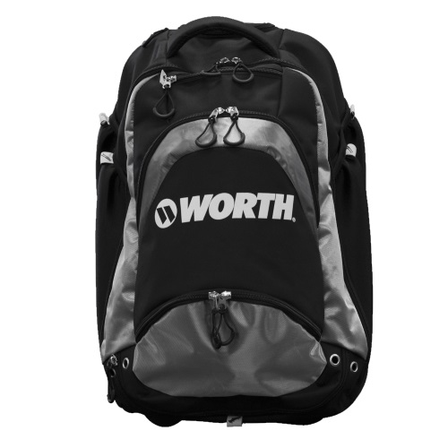 Worth Sports XL WOXLBP-17-GRY Backpack Holds 4 bats, fence hooks, Black & Gray