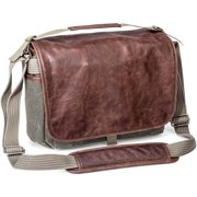 ThinkTank Retrospective 7 Shoulder Bag - Gray with Brown Leather