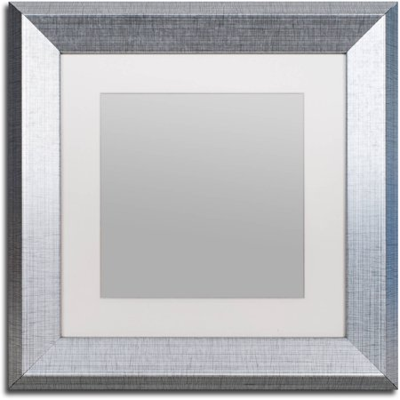 Trademark Fine Art Heavy-Duty 11x11 Silver Picture Frame with 7x7 ...
