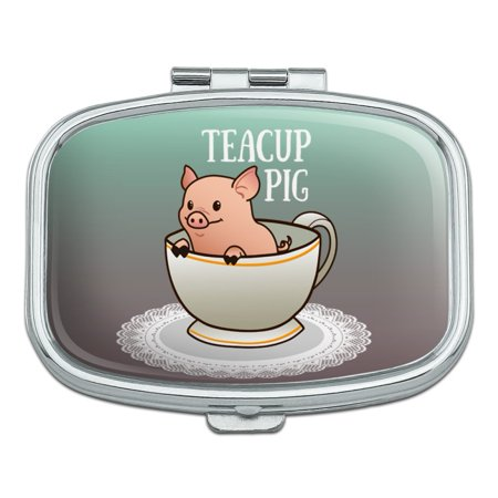 Teacup Pig Rectangle Pill Case Trinket Gift Box