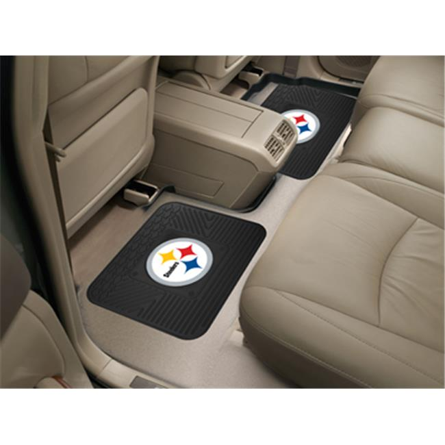 Fanmats 12302 NFL - 14 inch x17 inch  - NFL - Pittsburgh Steelers  Backseat Utility Mats 2 Pack