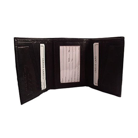 Gem Avenue Mens Leather Cowhide TriFold 10 Credit Card Slots ID Holder 4