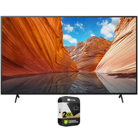 Sony KD43X80J 43 inch X80J 4K Ultra HD LED Smart TV 2021 Model Bundle with Premium 2 Year Extended Protection Plan