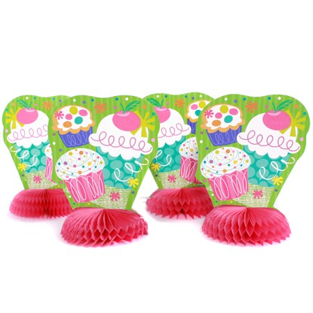 8 Pink Cupcake Mini 6