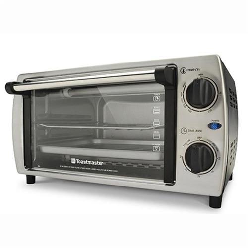 Toastmaster TM-103TR Stainless Steel 4 Slice Toaster Oven