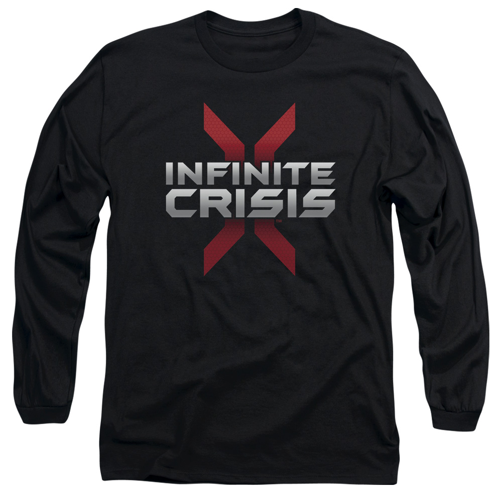 Infinite Crisis Logo Mens Long Sleeve Shirt