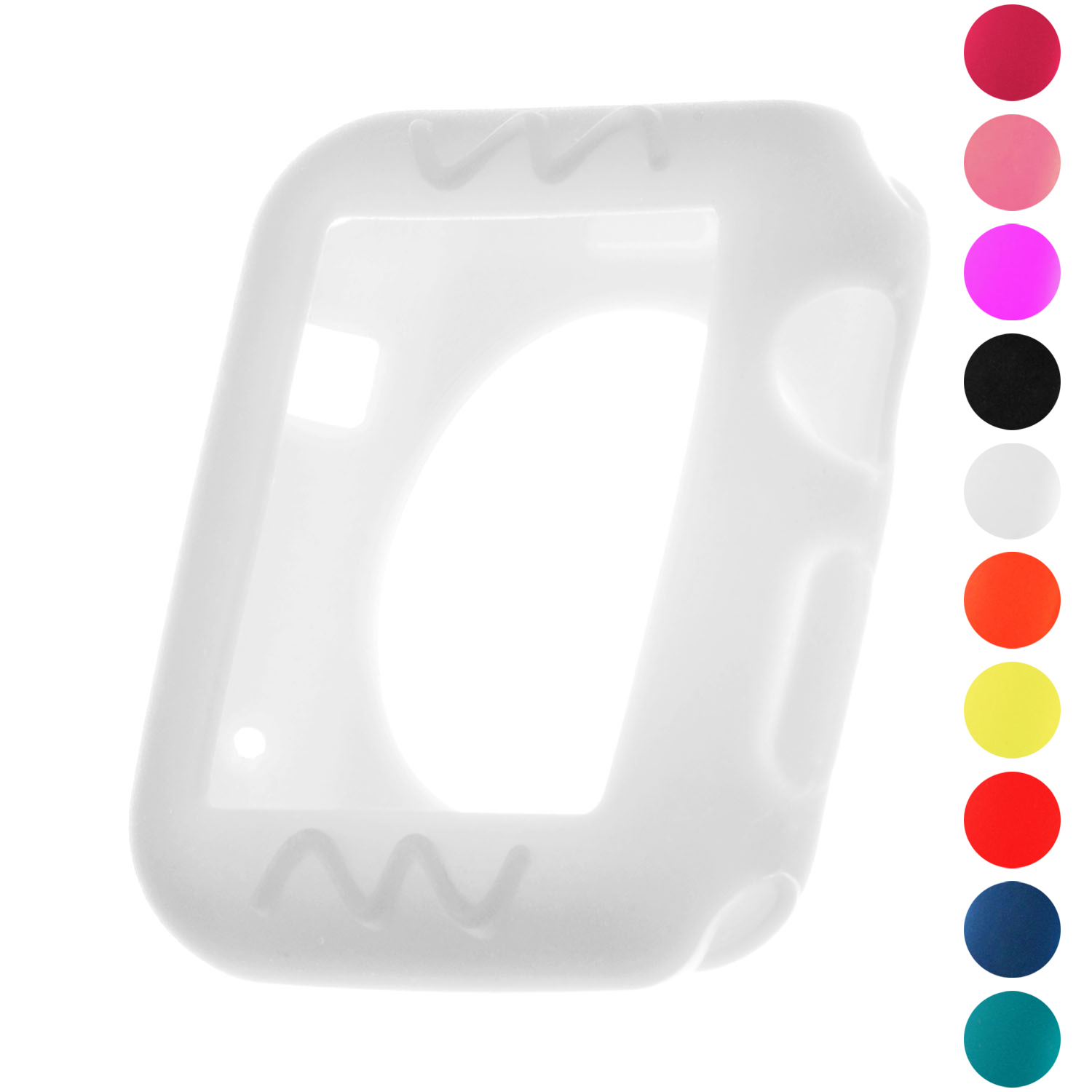 StrapsCo Silicone Rubber Protective Case Cover for 38mm 42mm Apple Watch Series 1/2/3 - image 3 of 3