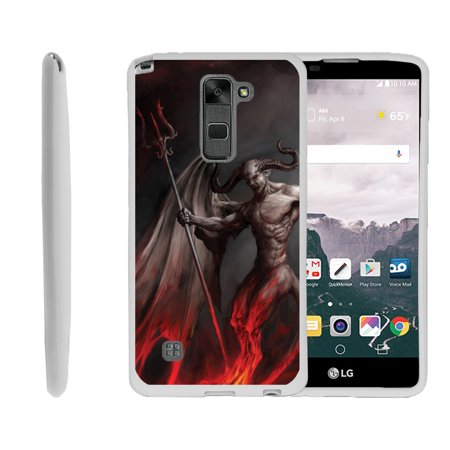 LG G Stylo 2, LG G Stylus 2 LS775, Flexible Case [FLEX FORCE] Slim Durable TPU Sleek Bumper with Unique Designs - Demon with Wings](Demon With Wings)