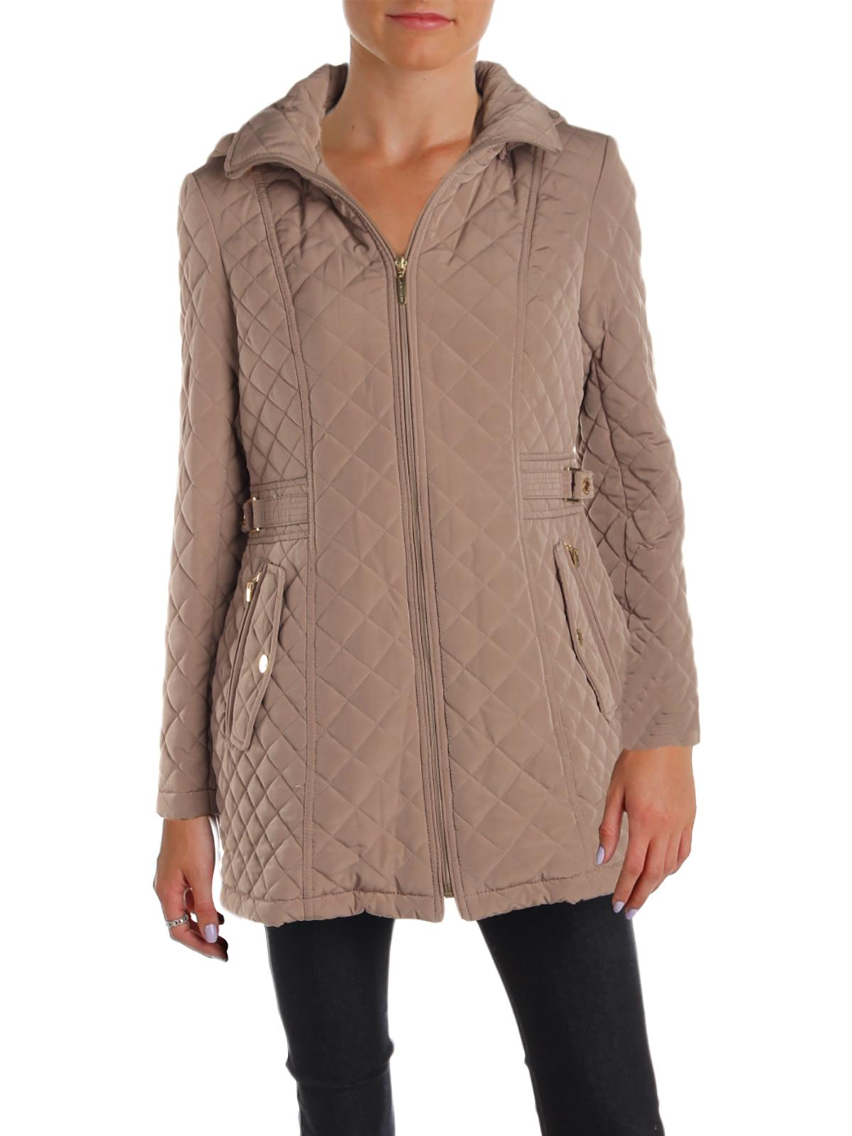 Gallery Womens Petites Fall Anorak Quilted Coat