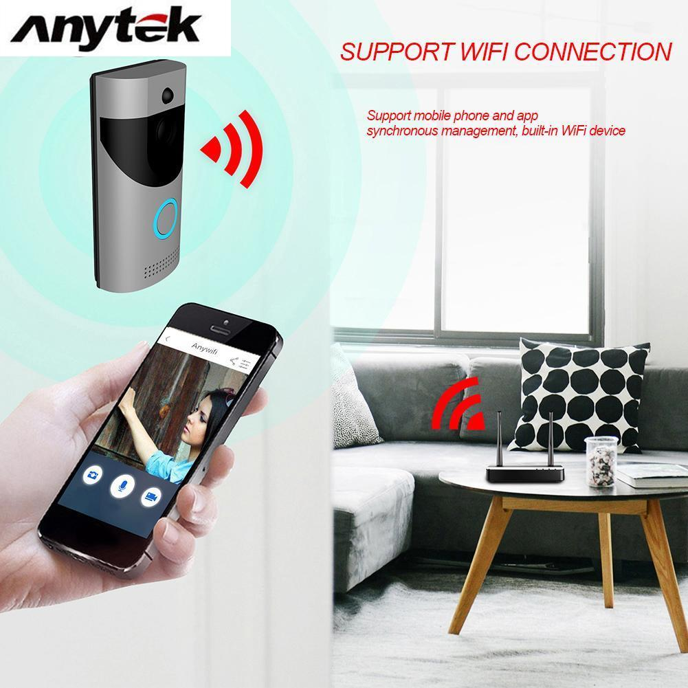 Black B10 Doorbell Receiver Set EU Plug Anytek B30 Wireless WiFi Intercom Video Doorbell