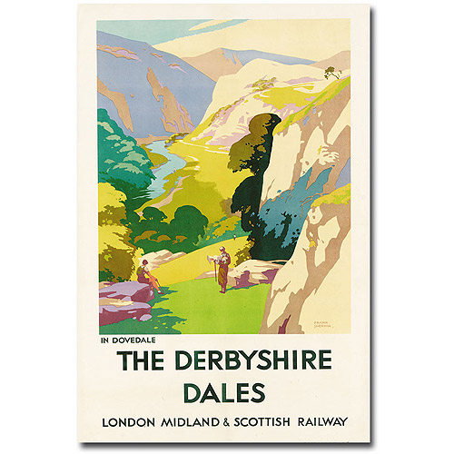 "Trademark Art ""The Derbyshire Dales"" Canvas Wall Art by Frank Sherwin"