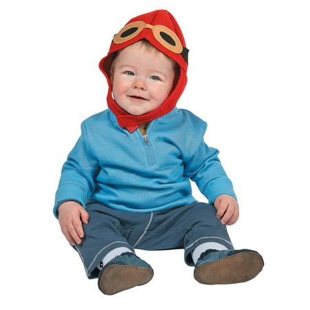 Fun Express - Baby Aviator Hat for Birthday - Apparel Accessories - Hats - Novelty Piece Hats - Birthday - 1 (Aviator Apparel)