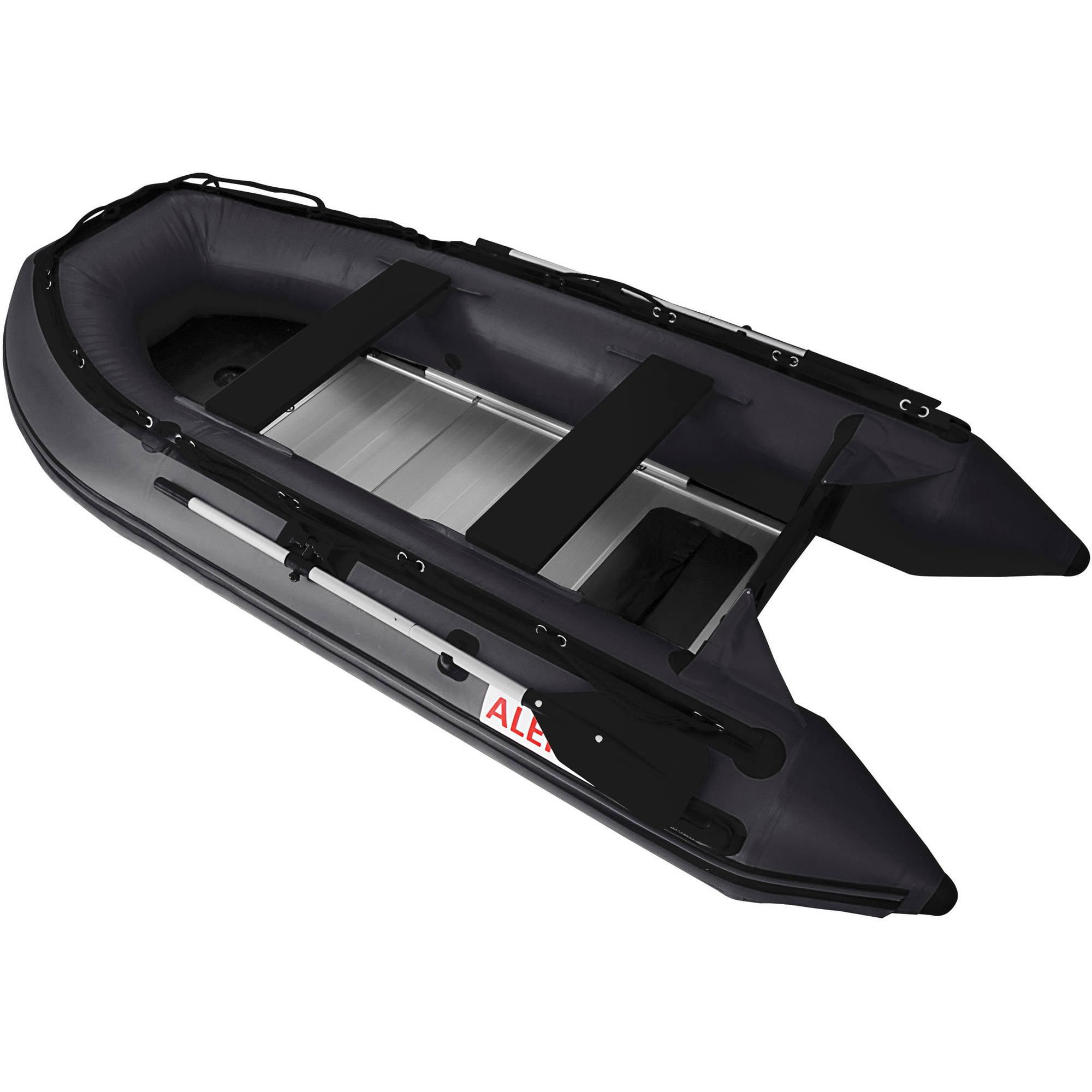 ALEKO Inflatable Boat - Aluminum Floor - 10.5 Feet - Black