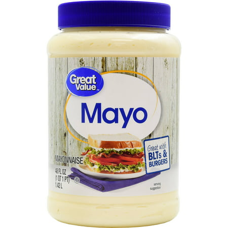 (2 Pack) Great Value Mayo, 48 oz (5 De Mayo Party)