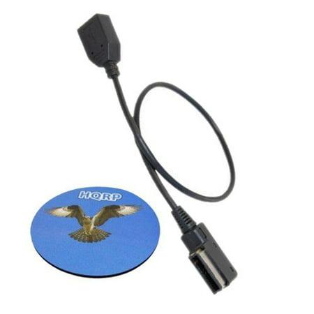 HQRP MDI MMI / USB Cable Adapter for VW Volkswagen Passat B6 / Passat Wagon B6 / Touareg 2009 2010, Audio MP3 Music Interface Adapter + HQRP Coaster 2010 Volkswagen Passat Wagon