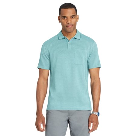 46a5c4eb Van Heusen - Van Heusen Men's Size Big and Tall Flex Jacquard Stripe Polo  Shirt | Blue Jade 2X Tall - Walmart.com