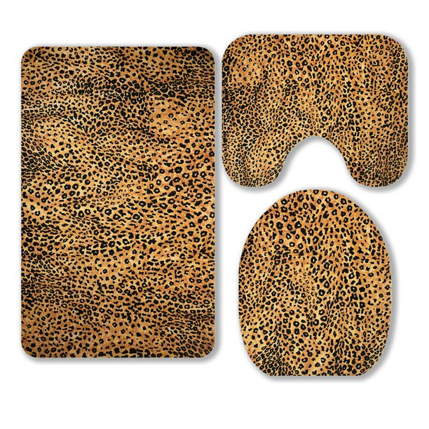 ECZJNT Animal Print Background 3 Piece Bathroom Rugs Set ...
