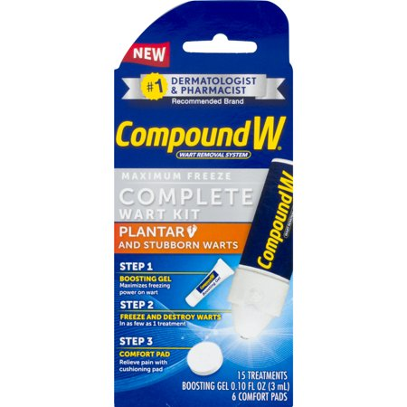 Compound W Complete Wart Kit, Freeze Off Wart Removal, 15