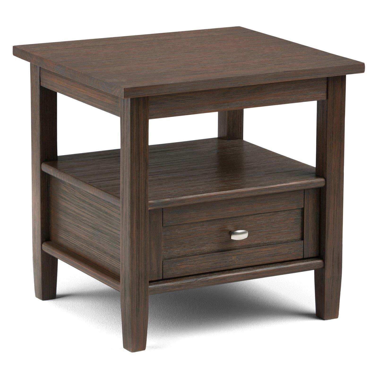 Simpli Home Warm Shaker End Side Table
