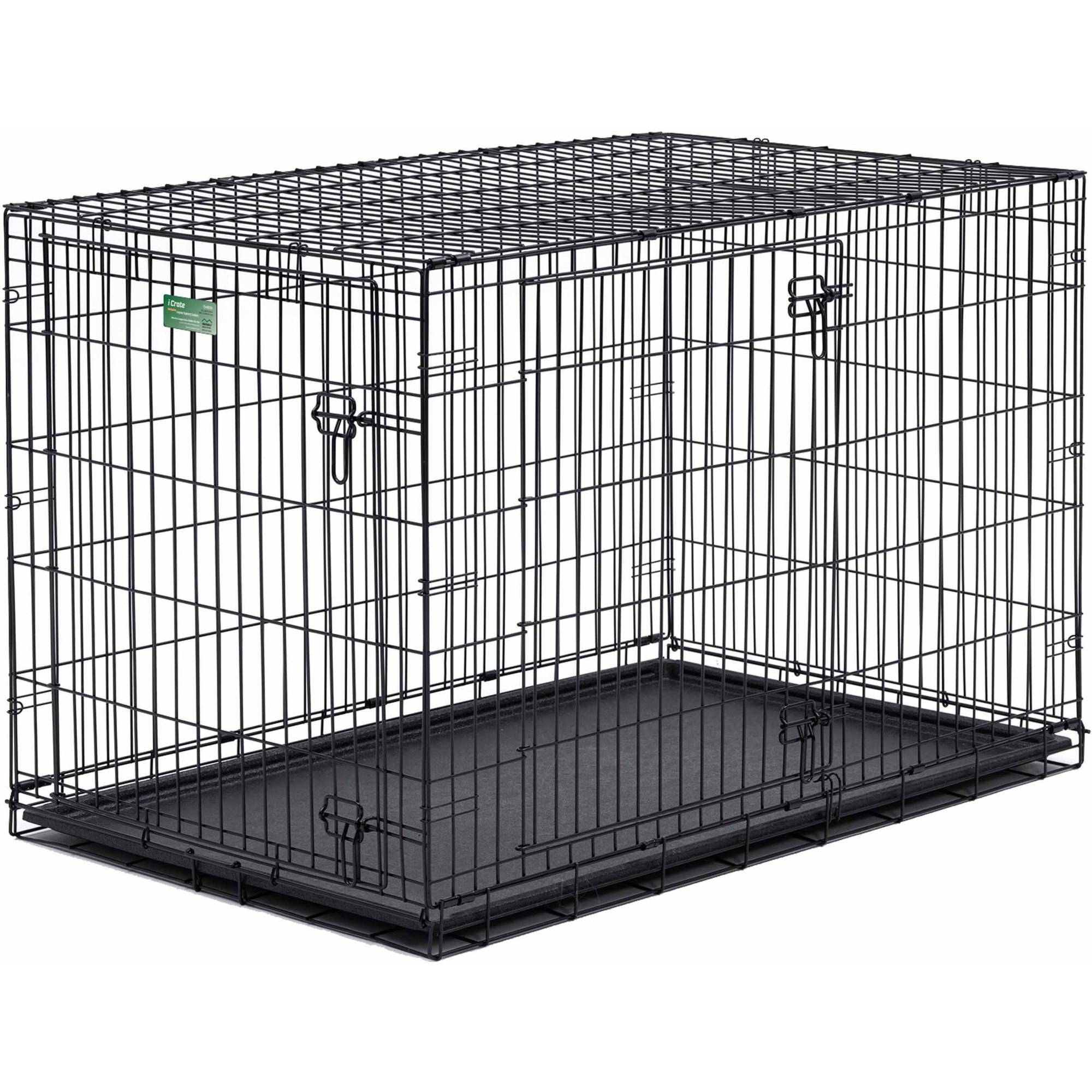 """Midwest 48"""" iCrate Double Door Dog Crate by Mid-West Metal Products"""